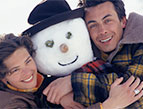 snowman and couple
