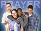 daily Devotion - group of young people with the word prayer in the background
