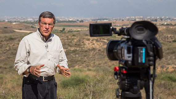 CBN News Middle East Chief, Chris Mitchell, reporting on location.