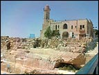 The Tomb of Samuel the Prophet with Crusader ruins